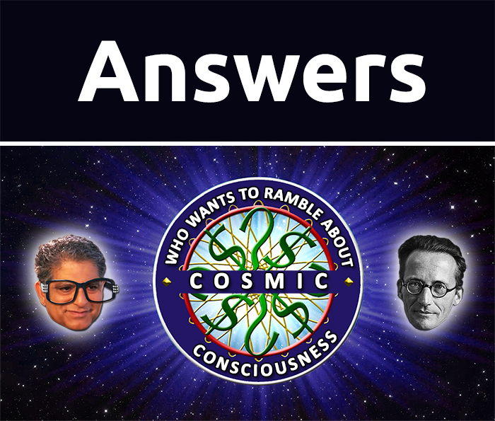 Answers to Deepak Chopra vs Erwin Schrodinger Test